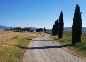 Gladiatorul si Val d'Orcia din Toscana