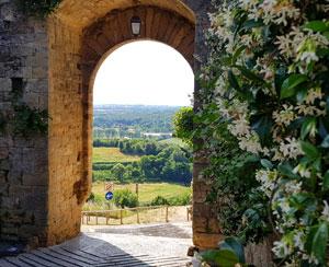 Castelul medieval Monteriggioni din Toscana
