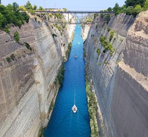 Canalul care uneste doua mari – Corint